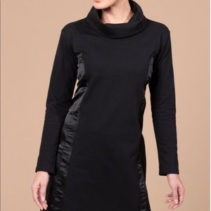 Black Marula Dress From Peach French Terry Satin